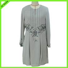 Long Sleeve Muslim Dress Model Baju Kurung Modern