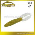 WZ XDS 10cm fabricante de plástico gusano cebo suave señuelo grub venta al por mayor