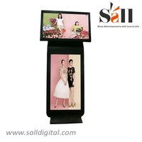 55inch dual screen double side digital audio signage