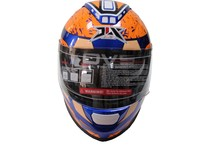 ECE DOT certificate FF005N helmet with double visor big accessory motobike casco