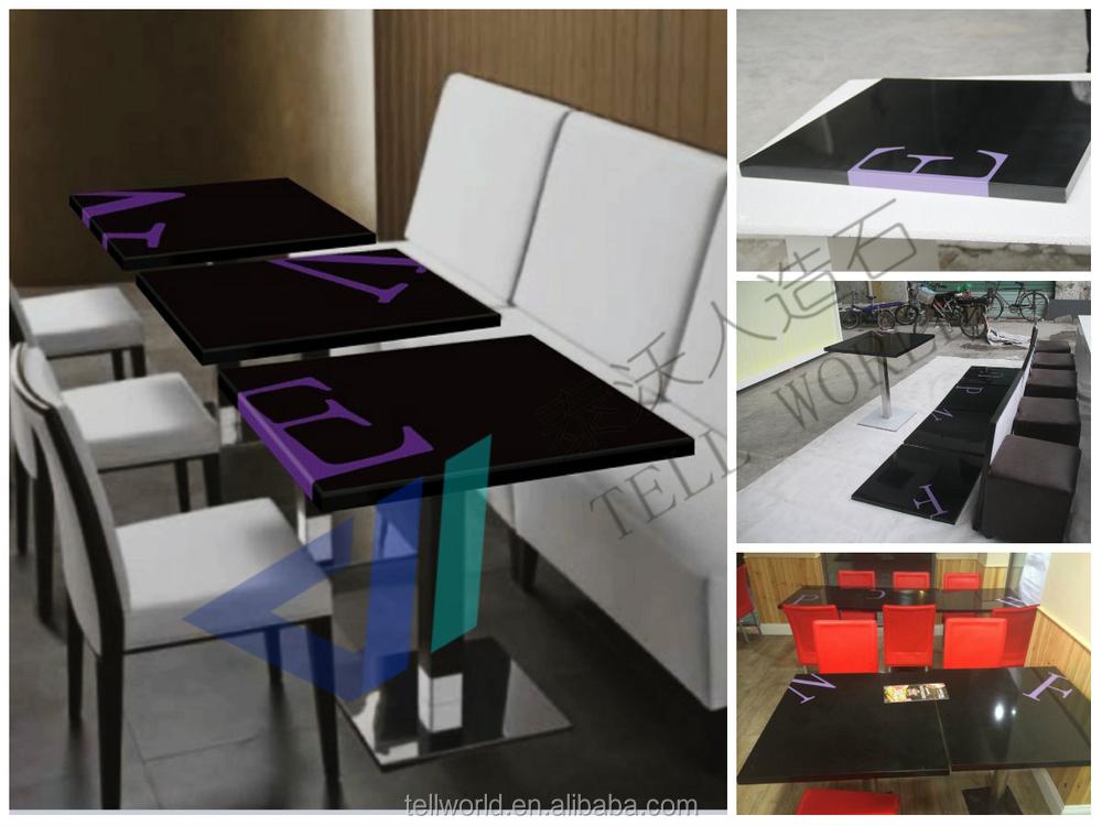 Mesa de m rmore topo restaurante mesa de jantar caf da for Mobilia normal