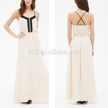 Oem diseño de ropa de mujer estilo moderno oscilación caliente nueva ropa de la longitud del piso del vestido