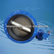 DN500 BS5155 double flanged vulcanised seat butterfly valve, EPDM seat