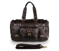 Vintage Real Leather Handbag Large Satchel Bag Travel Bag 7258Q