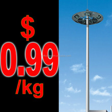 LED solar 20-50 metres high mast pole exporter with good price,nice design china