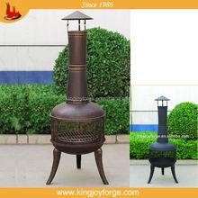 Kingjoy---outdoor wood burning steel chiminea/Beer bottle shape chimenea