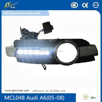 Super Bright! 3wires with dimming function + Car specific for Audi A6(2005-2008) Factory supply ! Led Daytime Running Lights