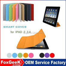 Good quality PU leather Case for ipad 2 3 4 with unbreakable protective Cover for ipad factory directly Selling