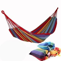 2 colors hot selling Canvas Portable Double Camping Hammocks