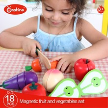 Magnetic Fruti and Vegetables Set Wooden Cutting Toy