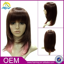 Factory price straight cheap stock cosplay wholesale synthetic wigs