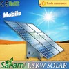 New style 1500w mobile panel solar for home