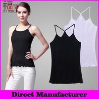 YBT6025# big strech Direct manufacturer Wholesale girl's sexy black tank top free shipping