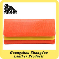 Manufacture Fashion Style Faux Leather Designer Wallet for Ladies