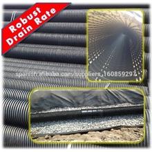 Poroso corrugado perforado HDPE tubo de drenaje de 200 mm, robusto Drain Cambio Precio, Mejor baratos