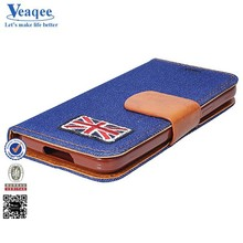 Veaqee profession high quality wallet leather flip stand cases for samsung galaxy s5