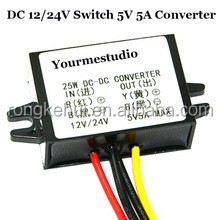 Waterproof Non-isolated 25W 12V/24V Buck 5V 5A Step Down DC Converter For Car Led Display Power