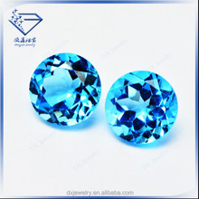 Natural round brilliant cut 5mm swissland blue topaz jewelry