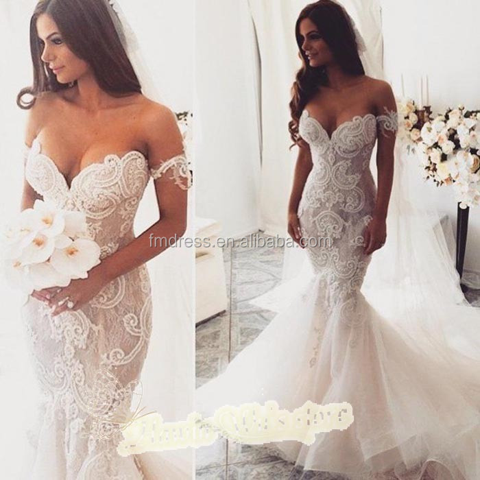 vintage mermaid wedding dresses sexy off shoulder with