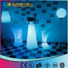 modern design lighting ice bucket table LED bar table