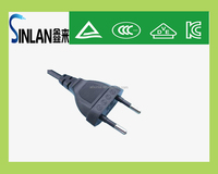 Korea KC plug 2-pin 250V plug PVC flat Electric plug
