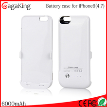Ups battery charger case for iphone6 polymer power bank 6000m mah hot selling product of power pack