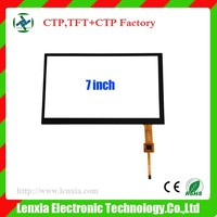 """Factory price capacitive 7"""" touch screen with 6H surface hardness"""