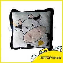 Cartoon Animal Cow Printed Baby Stuffed Pillow plush cushion