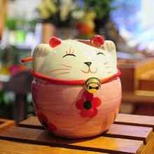 zakka japanese lucky cat figurines lucky cat souvenir ceramic cat ornaments ceramic wholesale lucky cat