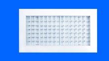 frame thick 1.0mm anodized aluminum air grille with with customized blades