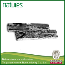 High grade low cost black thick laminated marble