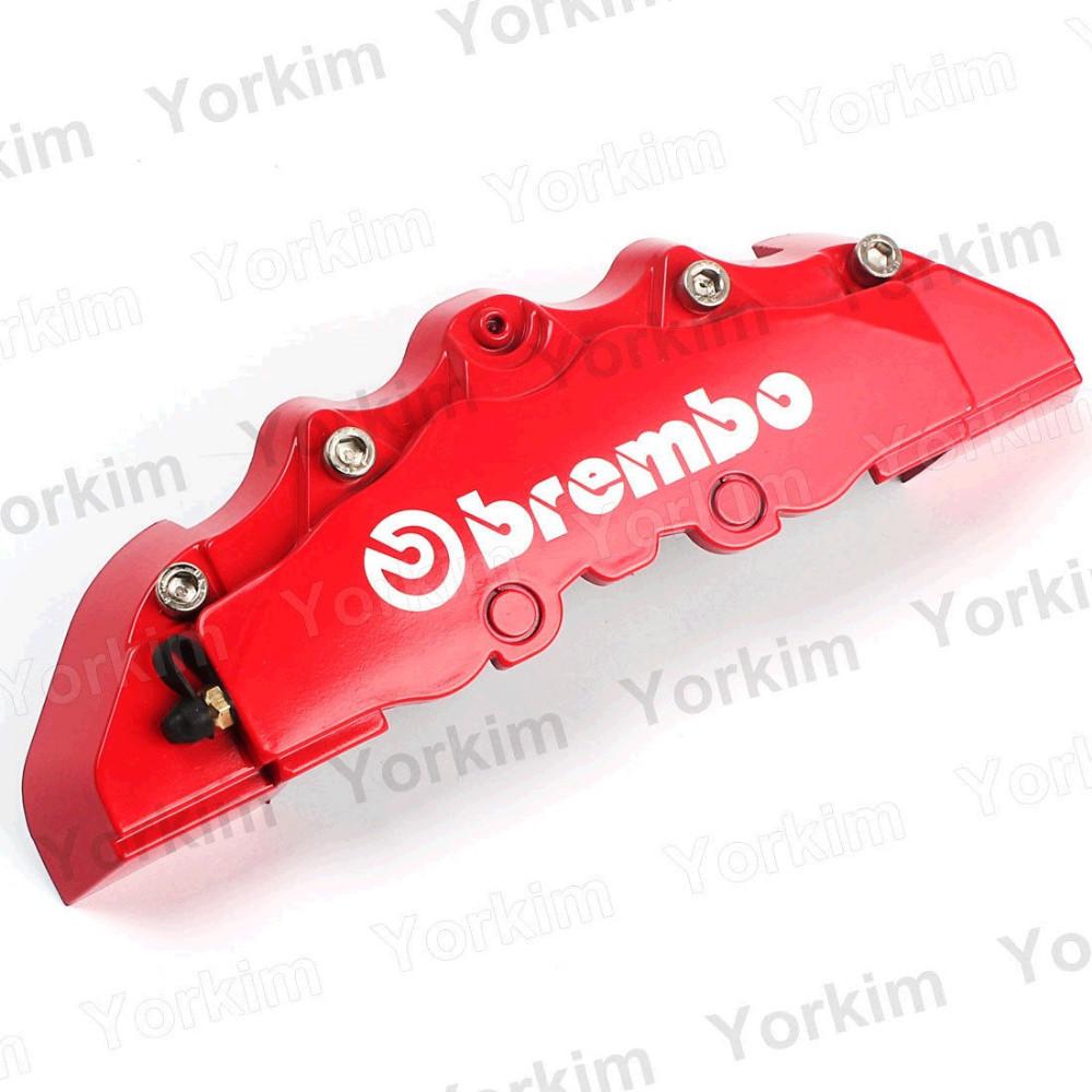 4pcs красный brembo стиль универсальный диск тормозной суппорт охватывает передних и задних суппортов & Аксессуары