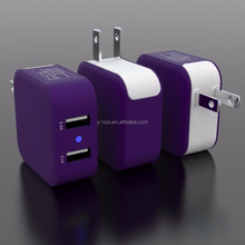 2015 Newest product Dual USB ports travel charger with EU/ US plug for iPad, mobile phone, Tablets CE/FCC approved 4.8A