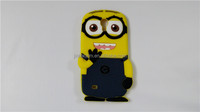 Hot Sale 3D Despicable Me Minion Soft Silicone Cartoon Cellphone Case Cover for iPhone 5 5S