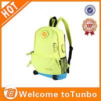 Highlight color backpack for kids hipster teens canvas school bag