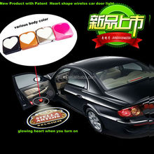 auto part from shizun heart shape wireless car door projector light,led car door logo laser projector lightled car logodoorlight