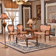 2015The new European classical furniture Coffee chair recreational chair woodmensal three piece tea table