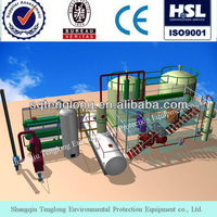 continuous and automatic of oil recycling machine dispose waste oil and crude oil