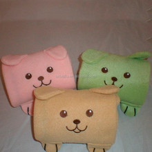 cute polar fleece fabric animal shaped toy blanket 2 in 1 blanket pet