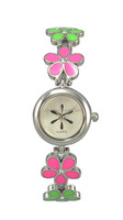 Voguish Girl's Bracelet Watch With Flower Shape Band