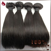 Fabwigs alibaba China fast delivery thick ends unprocessed natural color 16 inches straight indian remy hair extensions