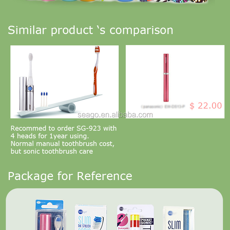 SG923 Lipstick Type Electric Toothbrush for Ladies