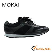 002-1 BLACK hot sale soft sole comfortable popular running walking sneaker shoes