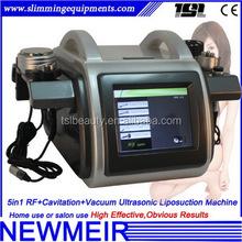 5 in1 ultrasound vacuum anti cellulite rf cavitation home use lipocavitation machine