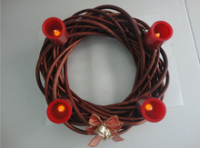 The electronic candle wreath Christmas decoration light