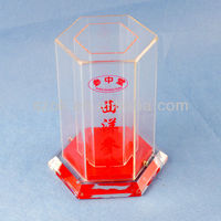 Clear glass acrylic single wine gift boxes wholesale