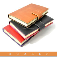 Huaben supply OEM PU leather cover stationery notebook with LOGO printing