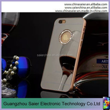 custom wholesale for iphone 6 lip makeup case with lighted mirror