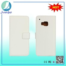 Wholesale luxury high quality smart phone leather cover case for htc m9