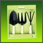 Great Reinforced Gardening Round Sharp Shovel + Rake w/ Wooden Handle Tools